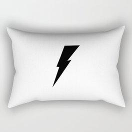 Black Thunderbolt  Rectangular Pillow