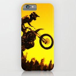 Sunset Run - Motocross Racer iPhone Case