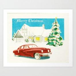 Vintage Christmas Tucker 48' Vintage Car Art Print