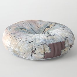 Raggedy Cat Floor Pillow