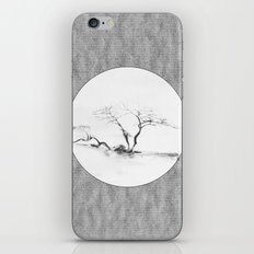 Scots Pine Paper Bag Grey iPhone & iPod Skin
