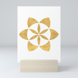 SEED OF LIFE minimal sacred geometry Mini Art Print