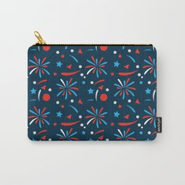 4th Of July red blue firework American pattern Carry-All Pouch