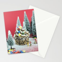 Christmas cupcake Stationery Cards