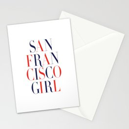 San Francisco Girl Stationery Cards