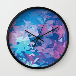 Purple Dimension Wall Clock