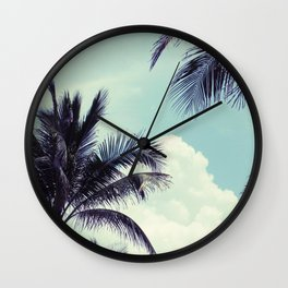 Welcome to Miami Palm Trees Wall Clock