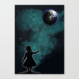The Girl That Holds The World Canvas Print