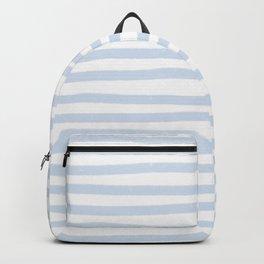 Light Blue Stripes Horizontal Backpack