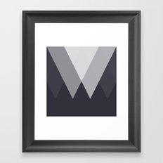 Sawtooth Inverted Blue Grey Framed Art Print