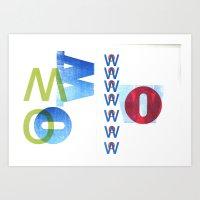 O W Art Print