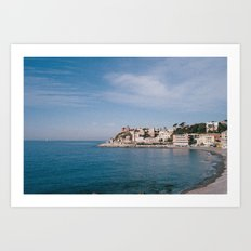 ligurian coast view Art Print