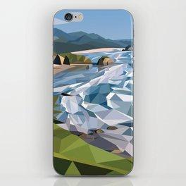 Geometric Cannon Beach iPhone Skin