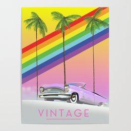 vintage rainbow auto poster. Poster