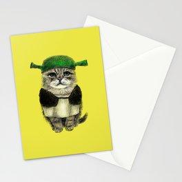 Shreky Cat Stationery Cards
