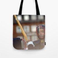 samurai Tote Bags featuring Samurai by Premium