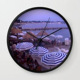 Beach Bar Juan les Pins Wall Clock