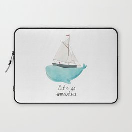 Let´s go somewhere Laptop Sleeve