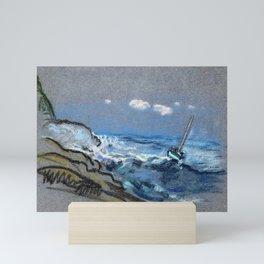 12,000pixel-500dpi - Boat In Distress - Arthur Bowen Davies Mini Art Print