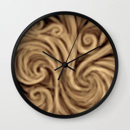 bohemian burnt sienna swirl pattern Wall Clock