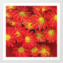 Red and Yellow Flowers Art Print