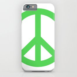 Peace (Green & White) iPhone Case