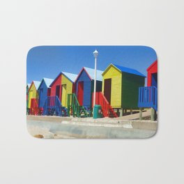 Beach houses at Muizenburg Bath Mat
