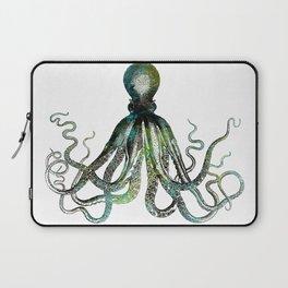 Octopus marine life watercolor art Laptop Sleeve