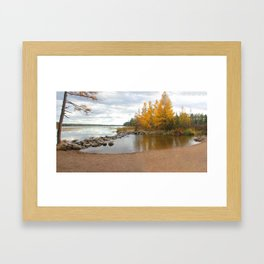 October headwaters of the Mississippi Framed Art Print