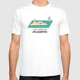 Only Here for Savasana Corgi T-shirt