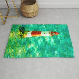 Lighthouse In Eastbourne UK Abstract - For Lighthouse Lovers Rug
