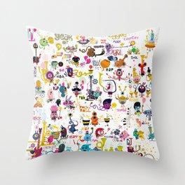 Music world Throw Pillow