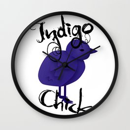 Indigo Chick Wall Clock