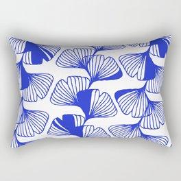 ginkgo cobalt blue Rectangular Pillow