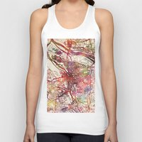 portland Tank Tops featuring Portland by MapMapMaps.Watercolors