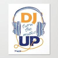 dj Canvas Prints featuring DJ by Danilo De Donno