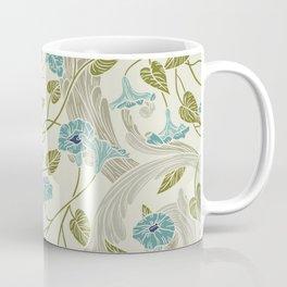 Modern chic ivory mint blue green floral Coffee Mug