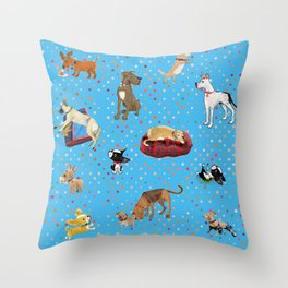 Lessons my dogs taught me. Throw Pillow