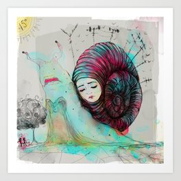 Caracool calor Art Print