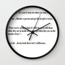 Murder Any One ? Wall Clock