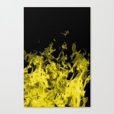 Yellow Flame on Black Canvas Print