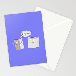 Toilet roll tissue cartoon Stationery Cards