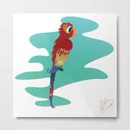 Little Parrot Metal Print