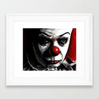 pennywise Framed Art Prints featuring Pennywise by Alycia Plank