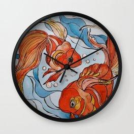 Pesci rossi Wall Clock