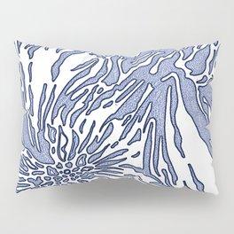 Animal Blossom Indigo Blues Pillow Sham