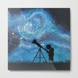 Observing the Universe Metal Print