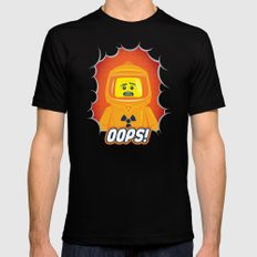 Oops! 2X-LARGE Black Mens Fitted Tee