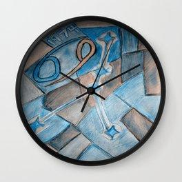 Cancer zodiac blue Wall Clock