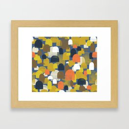 Fall Woods M+M Navy Blue By Friztin Framed Art Print